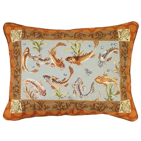 Needlework Pillows by Large Koi Needlepoint Pillow