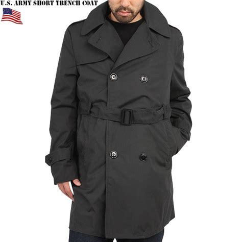 Swiss Army Topman Leather black trench coat han coats