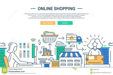 design online marketplace ecommerce and shopping online design cartoon vector
