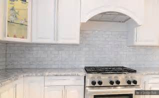 White Backsplash Kitchen White Carrara Subway Backsplash Tile Backsplash