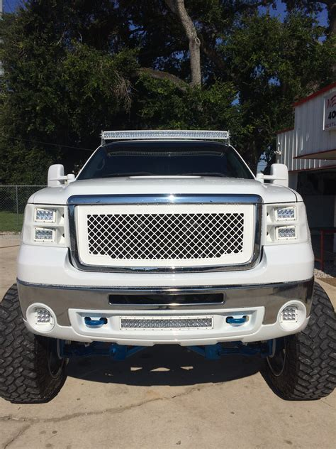 2008 gmc lights 2008 gmc 2500 with custom molded rigid lights