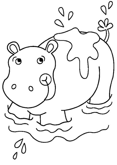 hippo coloring pages coloringpages1001 com