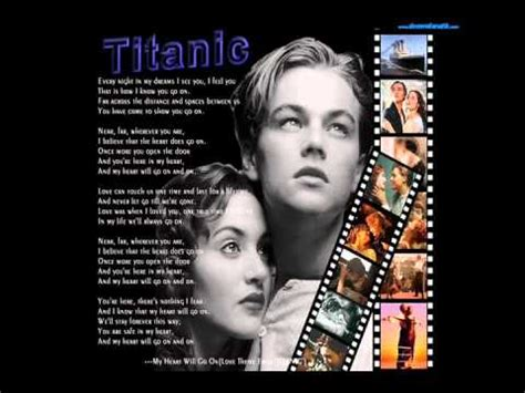 film titanic song lyrics titanic movie celine dion my heart will go on