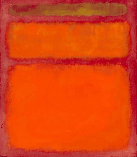 orange painting orange red yellow 1961 by mark rothko