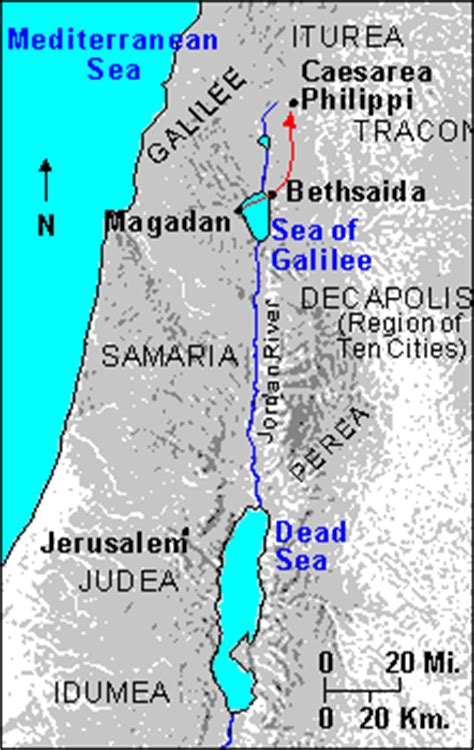 caesarea philippi map 8 9 but who do you say that i am the scripture says