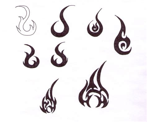 tribal flame tattoos images designs
