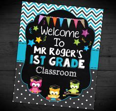 printable owl welcome sign welcome to my class sign teacher chalkboard classroom