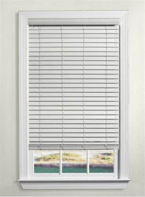 levolor faux wood blinds 2 inch the home depot canada