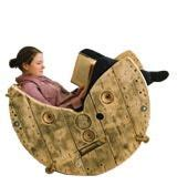 Cable Reel Rocking Chair by Spool Chair On Wood Spool Furniture Spindle