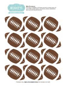 Free Football Template Printable Free Football Party Printables Labels Pictures To Pin On