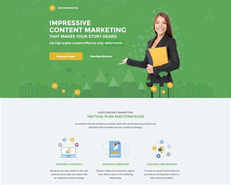 marketing landing page templates themes free