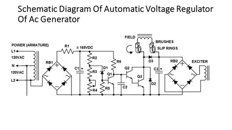 a sketch of an automatic voltage regulator block diagram