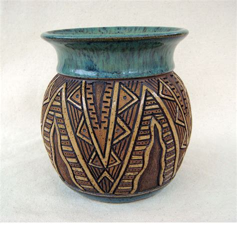 Handmade And - reserved for bp pottery handmade and carved by kittingerclay