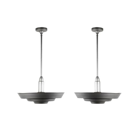 Matching Light Fixtures Two Matching Antique Industrial Aluminum Light Fixtures C 1930 Nc1544 Rw For Sale Antiques