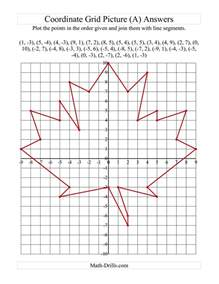 plotting coordinate points maple leaf a