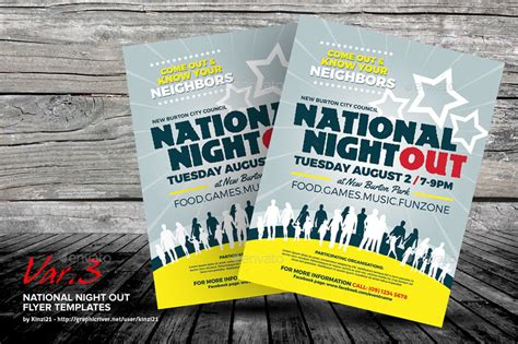 National Night Out Flyer Templates By Kinzi21 Graphicriver National Out Flyer Template Free