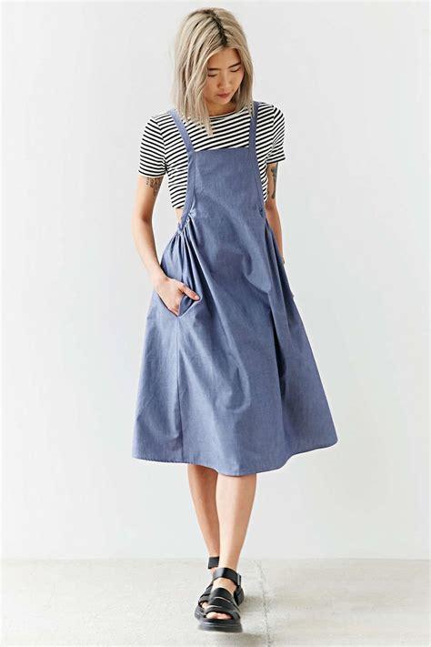 Plain Pinafore Midi Dress best 25 pinafore dress pattern ideas on