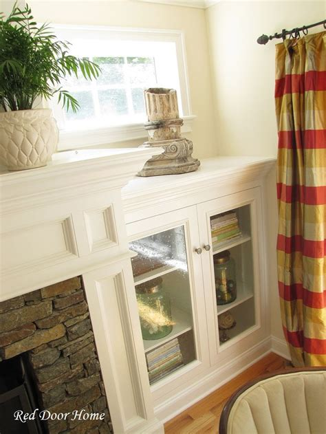 Built In Cabinet Doors Diy Built In Entertainment Center With Fireplace Woodworking Projects Plans