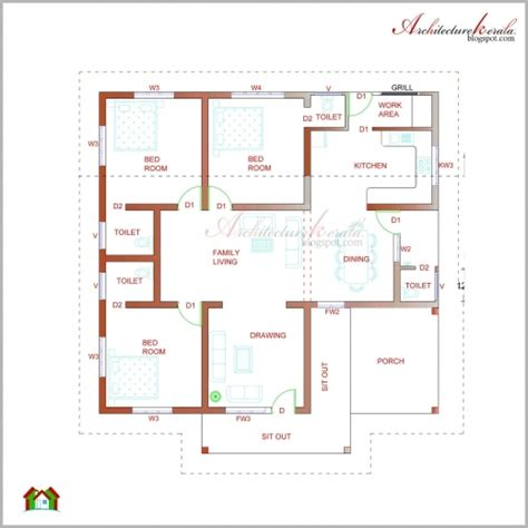 autocad architecture floor plan autocad plan and elevation for kerala homes house floor