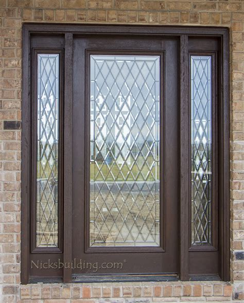 beveled glass exterior doors exterior doors with sidelights solid mahogany entry doors