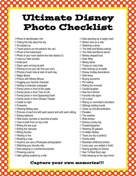 oscars 2016 download our printable movie checklist the the ultimate disney photo checklist printable checklist