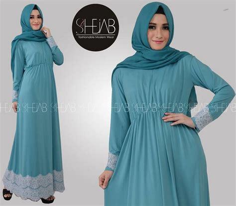 Motif Baju Muslim Terbaru contoh model baju muslim motif renda terbaru 2017