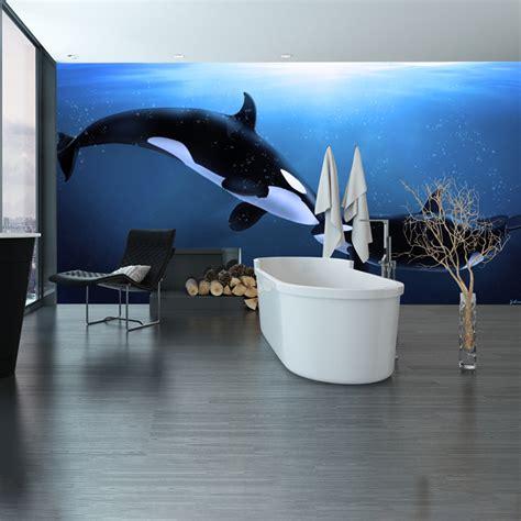 kids whale bathroom decor killer whale wall mural under the sea animal photo