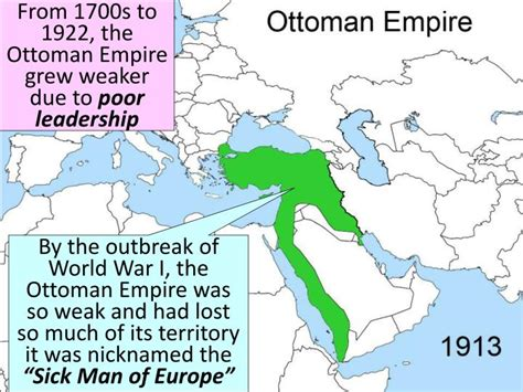 What Happened When The Ottoman Empire Weakened What Happened When The Ottoman Empire Weakened Ppt World War I Powerpoint Presentation Id