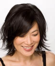 updated flip hairdo short layered bobs best medium hairstyle