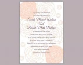 diy wedding invitation templates diy wedding invitation template editable word file instant printable floral invitation