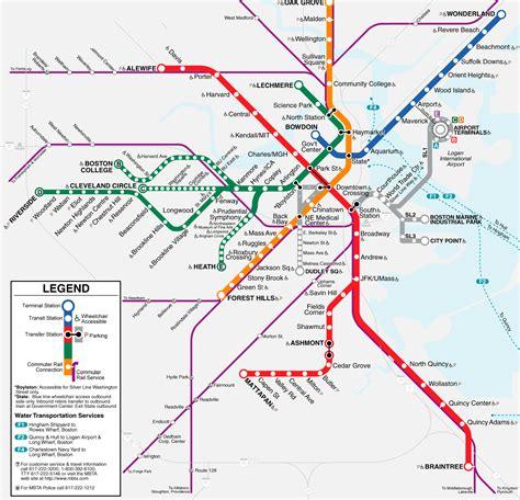 boston transit map news tourism world boston subway map mbta