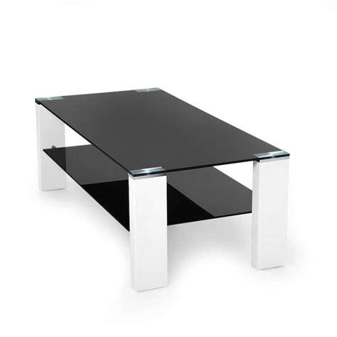 salontafel zwart salontafel zwart glas prachtig design 2 zwarte