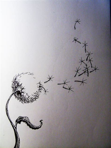 tattoo inspiration drawing girl blowing dandelion tattoo drawing inspiration