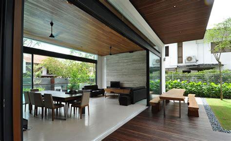 sunset terrace impeccable modern bungalow singapore home design lover