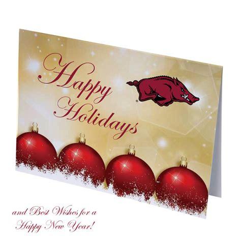 arkansas razorbacks happy holidays christmas cards  stadium shoppe  razorback