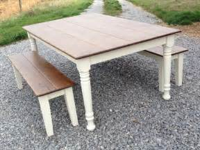 Farmers Kitchen Table Farm Style Table With Storage Bench Home Decorating Ideas