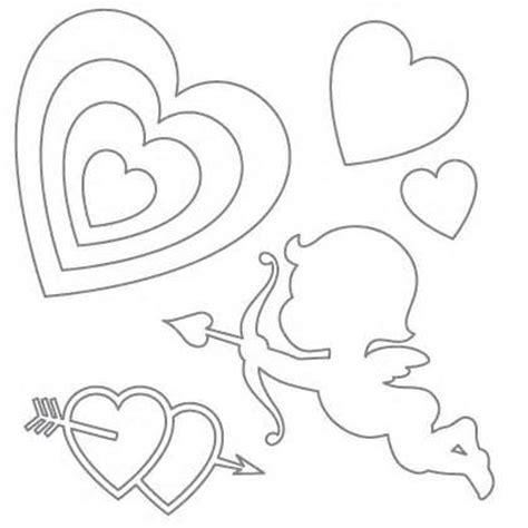 printable valentine stencils stencils printable free kiddo shelter