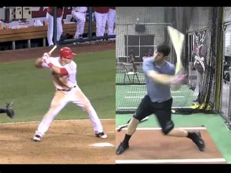 mike trout swing analysis bryce harper vs mike trout in slow motion youtube