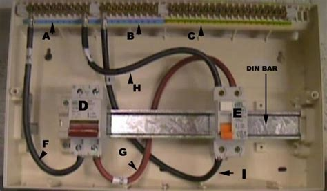 installing a consumer unit on wiring a