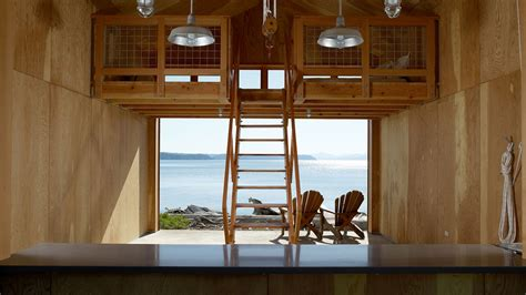 storing boat outside during summer this modern boat house in winter doubles as a scenic
