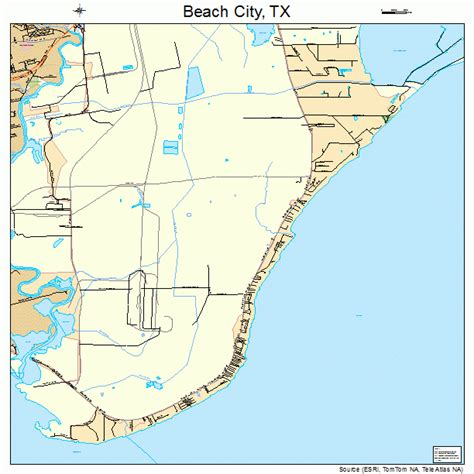 beaches in texas map city texas map 4806200