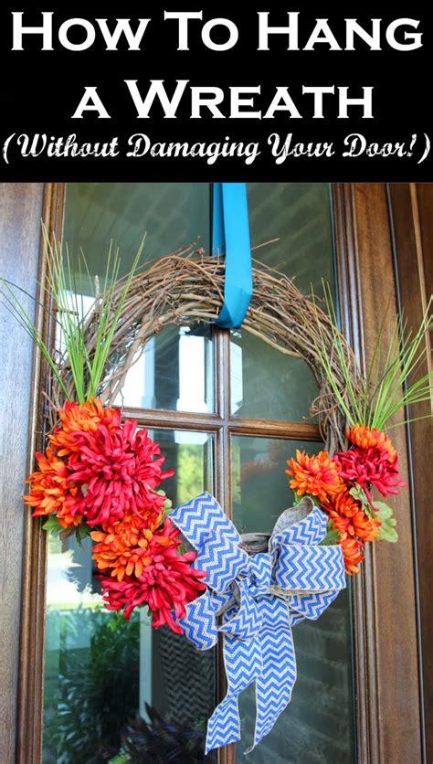 hang  wreath  damaging  door