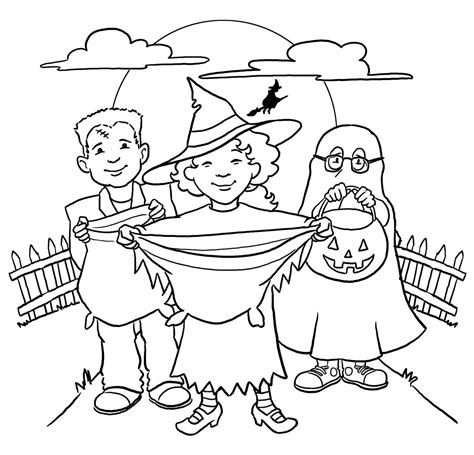 halloween coloring pages trick or treat halloween coloring pages trick or treat coloring pages