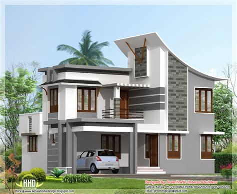 home plans design modern 3 bedroom house in 1880 sq kerala home