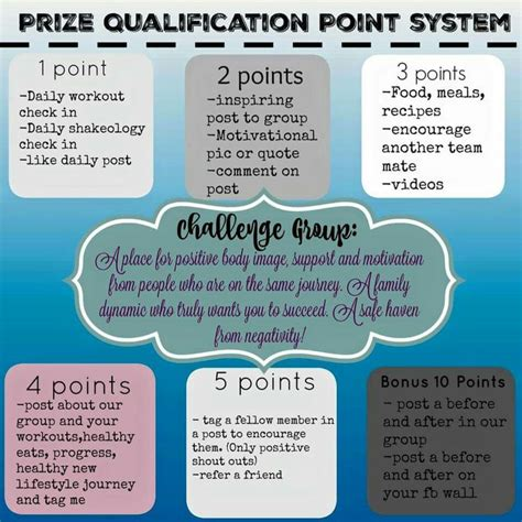 prize point system health fitness coaching challenge