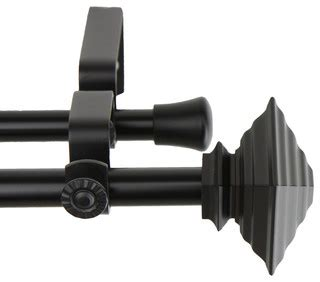 traditional curtain poles rod desyne home window decorative black quad double