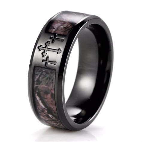 2017 popular black and silver s wedding bands