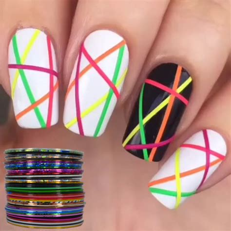 Easy Nail Decorations by Aliexpress Buy Yzwle 40 Popular 0 8mm Nail Striping