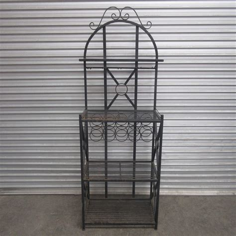 outdoor shelving unit outdoor bar shelving unit decorative black metal