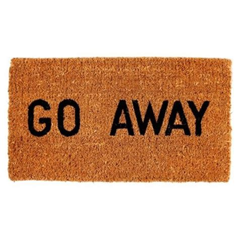 Welcome Go Away Doormat go away doormat